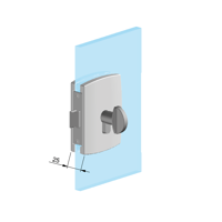 Picture of CO SER004FY-Z2B (10000/A) Knob cylinder lock for glass door