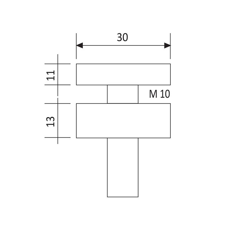 Slika: GS GC 010-30 Prihvatnik za staklo (ravni) inox NETTO CIJENA!