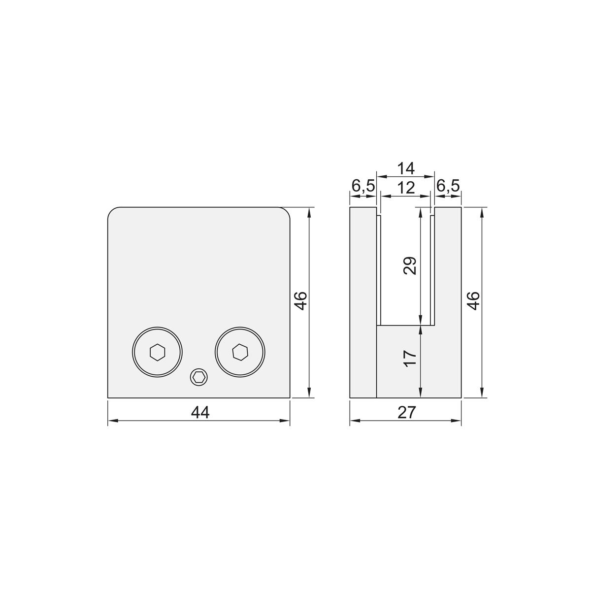 Slika: GS GC 109 (OD-S900) Spojnica fiksna INOX POL