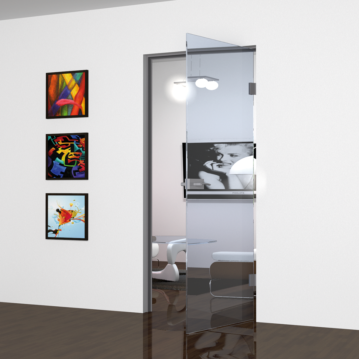 Picture of IG AD 5700 STANDARD BLACK Aluminium doorframe